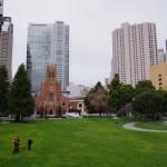 Výhled z Yeba Buena směrem k centru